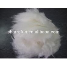 Cheveux de lapin angora dehaired de haute qualité blanc 14.5-15.0mic / 32mm