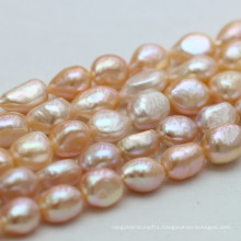 10-11mm Pink Baroque Natural Freshwater Nugget Pearl Strands, E190013