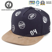 Mode benutzerdefinierte Stickerei Basketball Snapback Cap mit Laser Loch Bill