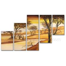 Afrikanische Kunst von Ägypten Scenery Ölgemälde auf Leinwand für Wohnkultur (AR-131)