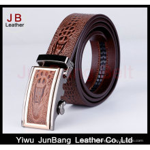 Designer Belt Men Without Holes Ceinture en cuir de crocodile à boucle automatique