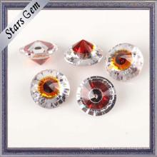 Bijoux ronds à la mode grenat rouge et blanc pour les bijoux