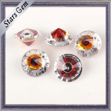 Fashion Round Garnet Red and White Gemstone for Jewelry