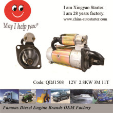 2.8kw 12V 11teeth Pinion Gear-Reduction Starter in Stock (QDJ1508)