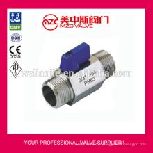 Mini robinet à tournant sphérique M/M fileté extrémités PN63 Mini robinet à tournant sphérique