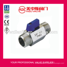 Mini Ball Valve M/M Threaded Ends PN63 Mini Ball Valve