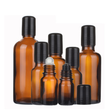 5ml 10ml 20ml 30ml 50ml 100ml amber glass roll on bottle for aroma perfume essential oil with Roller Balls
