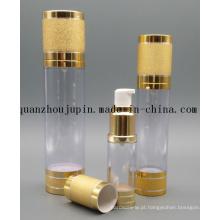 Garrafa de perfume mal ventilada da bomba da loção cosmética plástica dourada do OEM