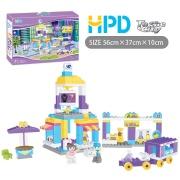 151PCS creativa brillante Color edificio bloque juguetes
