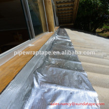 cinta de destello del betún de impermeabilización del techo de aluminio
