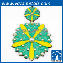 Customize tree leaf metal ornament, any size, design