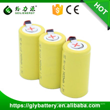 Batería recargable del poder 1.2V SC 3400mAh con las lengüetas que sueldan
