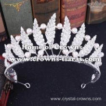 Wholesale Beauty Wedding Pearls Tiaras