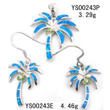 Conjunto de joyería de plata de ópalo (YS00243)