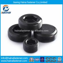 Black plated carbon steel pipe plug