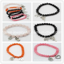 Fashion Stainless Steel Natural Stone Bracelet for Gift