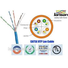 Bonne performance utp cable cat5e 4p 26awg approuvé par UL