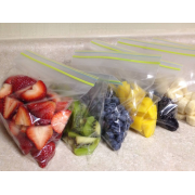 Double Zipper Frozen Food Pouch For Fruit