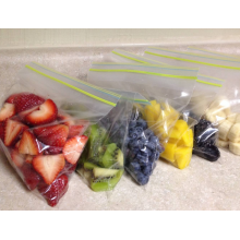 Double Zipper Frozen Food Pouch For Fruit