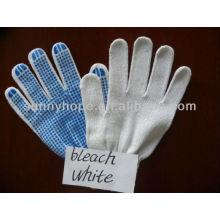 Luvas de trabalho de tricô ponto de PVC azul