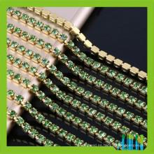 cadena de diamantes de imitación al por mayor de la cadena del diamante artificial