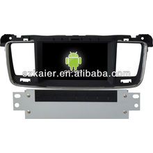 Android System car dvd player for Peugeot 508 with GPS,Bluetooth,3G,ipod,Games,Dual Zone,Steering Wheel Control