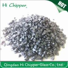 Lanscaping Vidrio Arena Trituradas Cristal Chips Vidrio Decorativo Negro Cuarzo