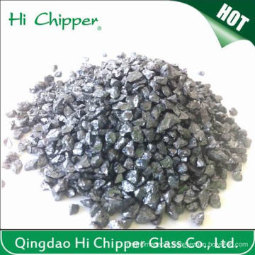 Lanscaping Glass Sand Crushed Glass Chips Decorative Glass Black Quartz