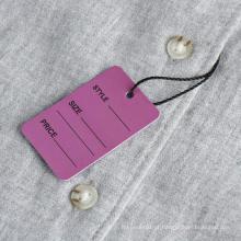 Etiqueta de preço feito à mão de papel feita sob encomenda recicl alta da classe alta de papel