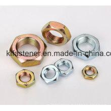 DIN439 Stahl Sechskant Halbmuttern