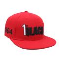 Design personalizado de moda de algodão snapback com logotipo bordado preto no atacado alibaba