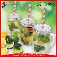 Vente en gros 16oz Glass Mason Jars with Straw