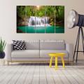 Зеленый сон, похожий на водопад, холст Картинная печать / домашнее украшение Ландшафтный натюрморт / лес