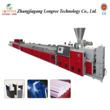 Máquina do painel de UPVC, extrusora de contorno do PVC, linha de produção do Decking do PVC