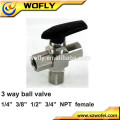 tubing ball valve 3000 psi high pressure manufacturer