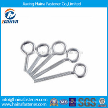 Zinc plated carbon steel eye screw with machine thread