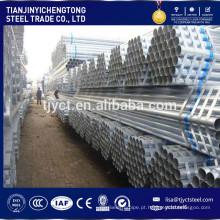 BS1387 tubo de aço galvanizado por imersão a quente