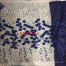 Blue 3D Flower Embroidery Lace for Evening Dress