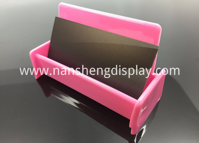 Hot Pink Business Card Holder Display