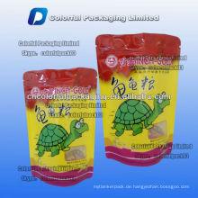 100g Pet food stehen up zip lock verpackung tasche für schildkröte mit fenster / Zipper stand up beutel für schildkröte essen