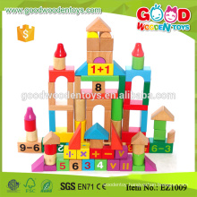 EZ1009 80pieces Math Learning Wooden Educational Blocks