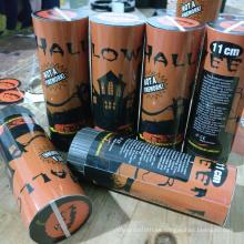 Nuevos productos Halloween Party Spring Popper con confeti de papel naranja y negro
