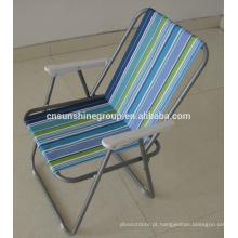 Portable facial chair,outdoor folding used metal chair with armrest.