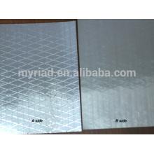 Película metalizada del poliester / mylar reflexivo, doble lado Foil-Scrim-Kraft que hace frente, hoja de aluminio material del aislamiento