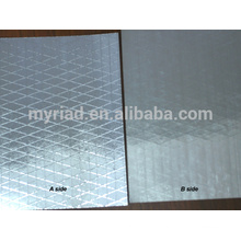 Filme metalizado do poliéster / mylar reflexivo, dobro lado Foil-Scrim-Kraft que endireita, folha de alumínio Material da isolação