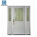 Diseño de puerta principal de acero fabricado alegre barato de Fangda