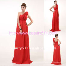 Astergarden red one shoulder Chiffon Evening DressAS061