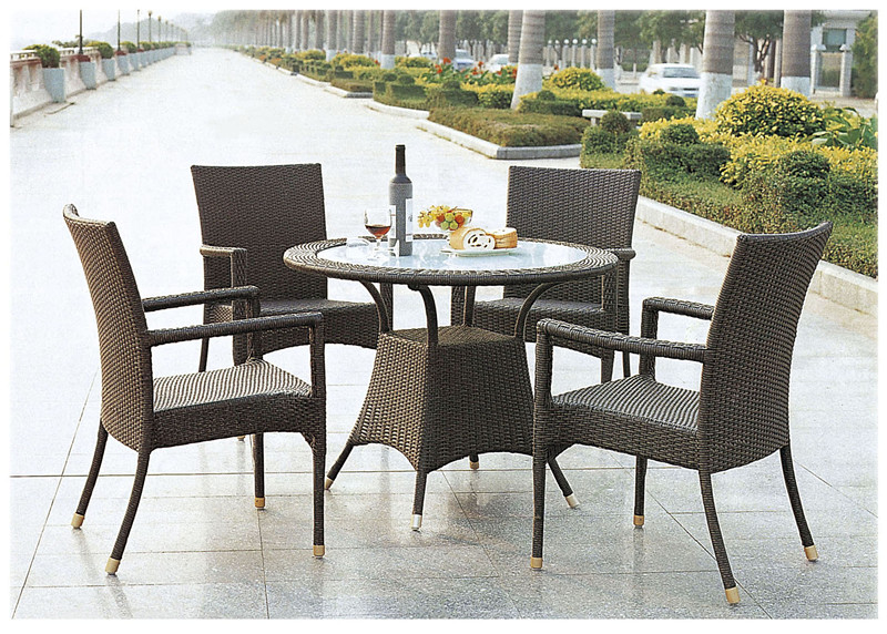 PE Rattan Wicker Patio Set_