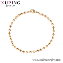 75185 Xuping fashion jewelry made in China wholesale simple gold bead bracelet for women