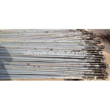 hollow steel screw thread steel bar